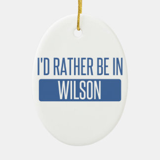 I'd rather be in Wilson Ceramic Oval Decoration