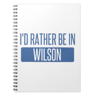 I'd rather be in Wilson Spiral Notebook