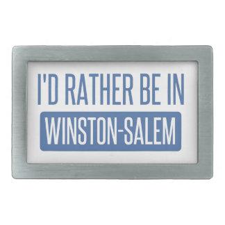 I'd rather be in Winston-Salem Belt Buckle