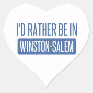 I'd rather be in Winston-Salem Heart Sticker