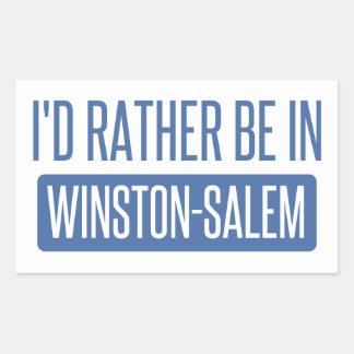 I'd rather be in Winston-Salem Rectangular Sticker