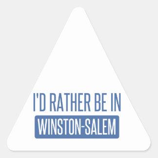 I'd rather be in Winston-Salem Triangle Sticker