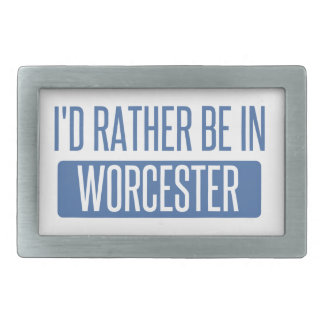 I'd rather be in Worcester Rectangular Belt Buckles
