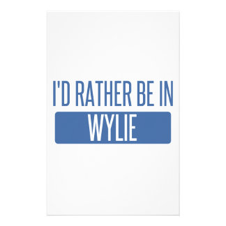 I'd rather be in Wylie Stationery