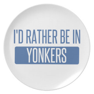 I'd rather be in Yonkers Plate