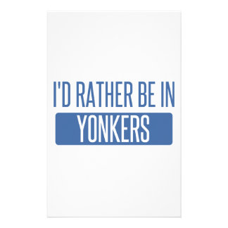 I'd rather be in Yonkers Stationery