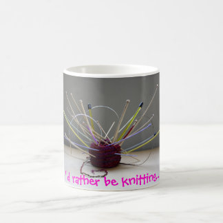 I'd rather be knitting... coffee mug