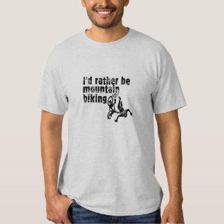 I'd rather be mountain biking t shirts