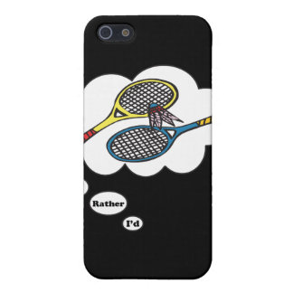 I'd rather be playing Badminton iPhone 5/5S Cases