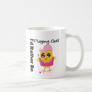 I'd Rather Be Playing Golf Basic White Mug