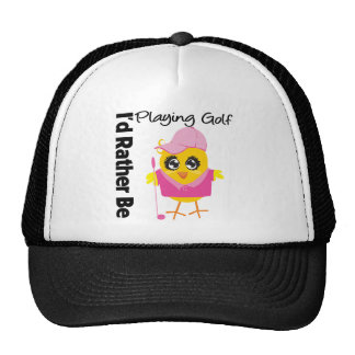 I'd Rather Be Playing Golf Trucker Hat