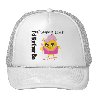 I'd Rather Be Playing Golf Mesh Hat