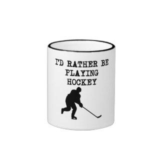 I'd Rather Be Playing Hockey Coffee Mug