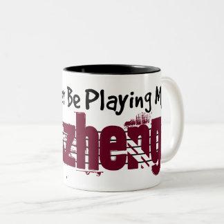 I'd Rather Be Playing My Guzheng Two-Tone Coffee Mug