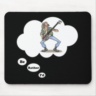 i'd rather be playing Rock Music 3 Mouse Pad