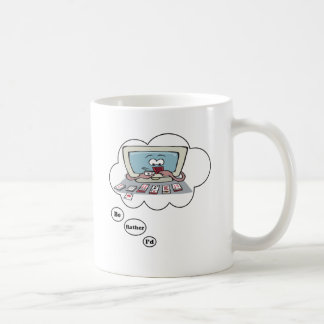 I'd rather be playing Solitaire Coffee Mug