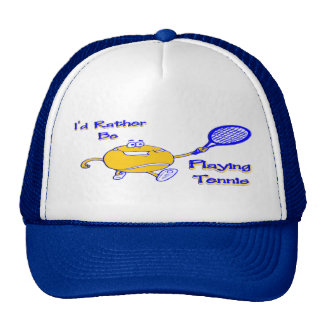 I'd Rather Be Playing Tennis Mesh Hat