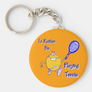 I'd Rather Be Playing Tennis Key Chain