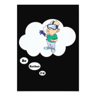"""I'd rather be playing Video Games 4 5"""" X 7"""" Invitation Card"""
