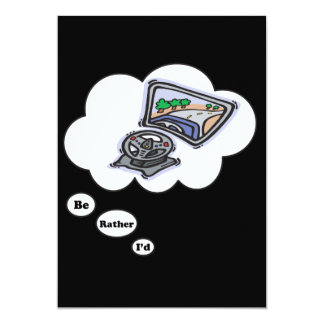 I'd rather be playing Video Games 5 5x7 Paper Invitation Card