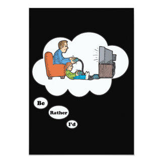 I'd rather be playing Video Games 7 13 Cm X 18 Cm Invitation Card