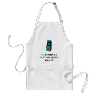 I'D RATHER BE PLAYING VIDEO GAMES STANDARD APRON