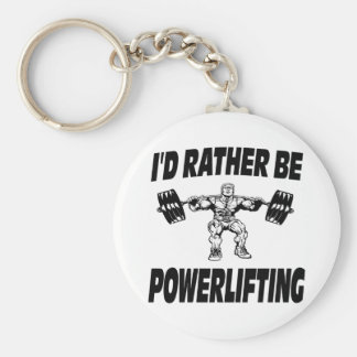I'd Rather Be Powerlifting Weightlifting Basic Round Button Key Ring