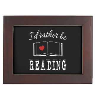 I'd rather be reading keepsake box