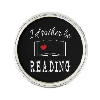 I'd rather be reading lapel pin