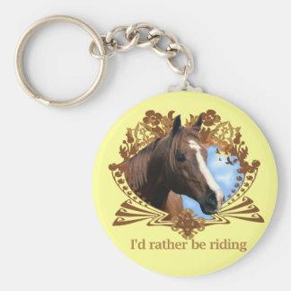 I'd Rather Be Riding Horses Key Ring