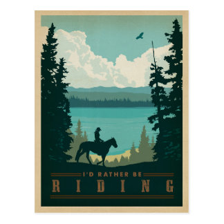 I'd Rather be Riding Postcard