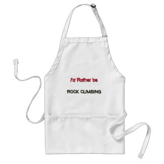 I'd Rather Be Rock Climbing Standard Apron