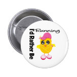 I'd Rather Be Running Pinback Buttons