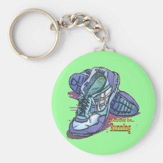 I'd Rather Be Running _ Sneakers Basic Round Button Key Ring