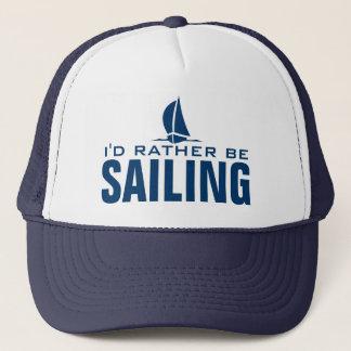 I'd rather be sailing nautical hat