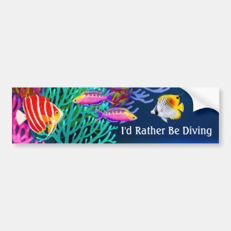 Id Rather Be Scuba Diving Bumper Sticker