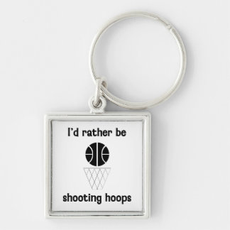 I'd rather be shooting hoops key chains