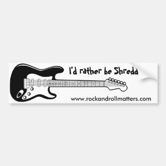 """I'd rather be Shredding!"" Bumper Sticker"