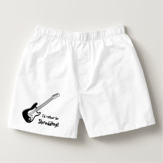 """I'd Rather be Shredding!"" Men's Cotton Boxers"