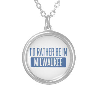 I'd rather be silver plated necklace