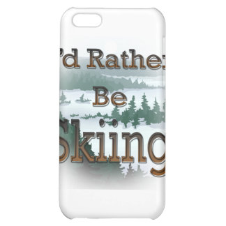 I'd Rather Be Skiing brown iPhone 5C Cases