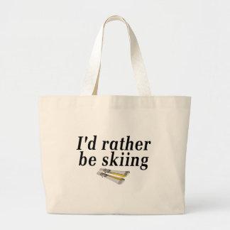 I'd rather be skiing jumbo tote bag