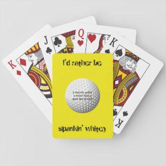 I'd rather be spankin' whitey poker deck
