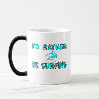 I'd rather be surfing morphing mug