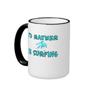I'd rather be surfing ringer mug