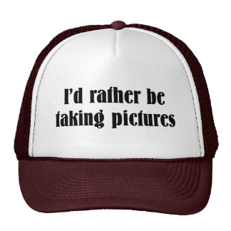 I'd Rather Be Taking Pictures Mesh Hat
