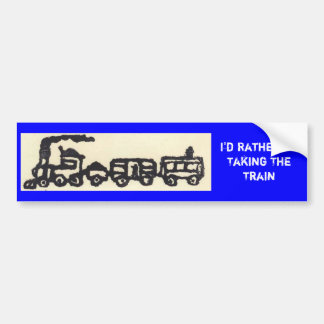 I'd Rather Be Taking The Train Bumper Sticker