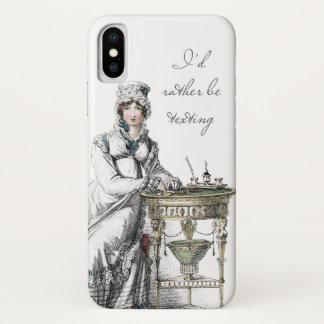 I'd Rather be Texting Jane Austen Regency Fashion iPhone X Case
