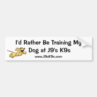 I'd Rather Be Training My Dog Bumper Sticker