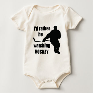 I'd rather be watching hockey baby bodysuit